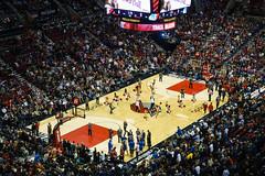 blazers vs warriors (dolanh) Tags: basketball cheerleaders nba rosequarter modacenter porlandtrailblazers
