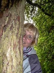 147-365 Pee Po (NSJW photos) Tags: tree smile face woodland woods bark half 147 selfie peepo 147365 365selfies nsjwphotos 1473652016me