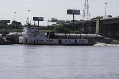 MississippiRiver_SAF9262-1 (sara97) Tags: river outdoors missouri mississippiriver riverfront saintlouis barge towboat photobysaraannefinke copyright2016saraannefinke wayneuplagrange