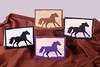 Silhouette Horse Greeting Cards (Calzephyr) Tags: horses horse silhouette greetingcard papercut papercraft scherenschnitte