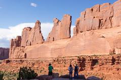 Tourists near wall of rock (Stephen T Slater) Tags: archesnationalpark explore parkavenueviewpoint us usa unitedstatesofamerica moab utah unitedstates