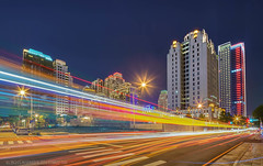 Light Speed Taichung- (Edward Tian) Tags: motion architecture cityscape citylife taiwan vivid taichung bluehour lighttrail capitalcities buildingexterior traveldestination sonysingapore sonyalphaprofessionals