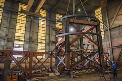 Onderste stuk van de liftschacht (G. Warrink) Tags: architecture construction industrial steel welding engineering watchtower appelscha bosberg heuvelmanibis