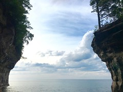 Pictured Rocks National Lakeshore (supernova9) Tags: park sunset sky lake water beautiful clouds mi nationalpark cove michigan gorgeous lakesuperior munising picturedrocks nationallakeshore thegreatlakes