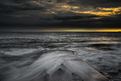 Ogmore Sunset Seascape (Welsh Photographer) Tags: ogmore sunset sea seascape pentax k3ii da 1650mm water longexposure valeofglamorgan glamorgan bridgend