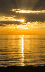Port Sheldon Shores (-blaine-) Tags: sunset summer sun lake beach water port boat michigan burst sheldon 2016