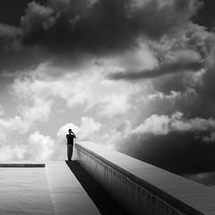 (Svein Nordrum) Tags: light shadow bw lines oslo architecture square opera noir explore squareformat nero cloudscape explored