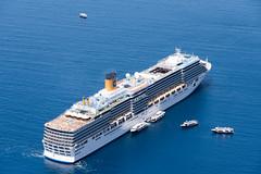 Cruise boat in Santorini (George Pachantouris) Tags: santorini greece summer cyclades greek island sunset fira imerovigli oia