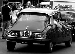 old style (marcobertarelli) Tags: car style old ds history contrast black white bw pneus clear detail focus day holiday grey street art queue citroen