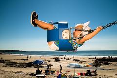 . (krameroneill) Tags: maine usa etatsunis swing beach plage family summer fujifilm xpro 2016
