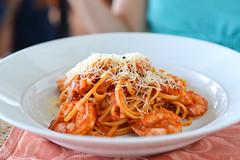 Shrimp Linguine (versello) Tags: food zeiss island 50mm restaurant shrimp pasta seafood makro linguini grandcayman foodography thelighthouserestaurant