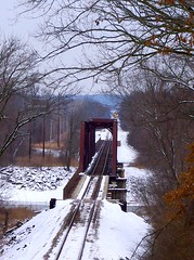 WinterTrain2 (jeffzarinelli) Tags: railroad bridge train traks