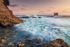 In the Rush! (mnlphotography) Tags: ocean longexposure sunset seascape beach nature water canon landscape waves tokina coronadelmar 70d induro indurotripod