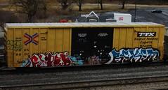 scez - fobek - reken (timetomakethepasta) Tags: train graffiti jfk boxcar freight tbox ttx fobek reken scez