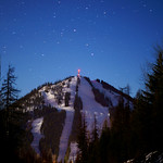 Red Mountain, a night shot of the great old racing mountain PHOTO CREDIT: Derek Trussler