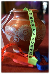 Special Vase Full of Wishes (~~J) Tags: brazil wishes salvador vase miracles treaure wishribbons bahiabands specialpottery