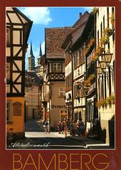 postcard - Bamberg, Germany (Jassy-50) Tags: germany postcard bamberg unescoworldheritagesite unesco unescoworldheritage halftimbered worldheritage whs
