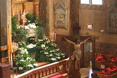 Easter Sunday (Canons Regular) Tags: flowers light music chicago church beautiful beauty easter fire catholic candle christ cross jesus baptism sacred priest mass bishop relics incense liturgy chalice goodfriday vestments holyweek eucharist tenebrae eastersunday holythursday eastervigil paschal cantius latinmass holysaturday spywednesday