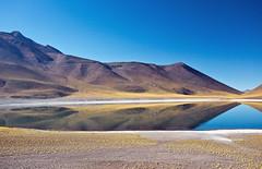 Laguna Menique, Atacama, Chile (Miche & Jon Rousell) Tags: chile blue lake southamerica argentina yellow volcano desert turquoise lagoon atacama andes laguna altiplano sanpedrodeatacama atacamadesert lagunamiscanti lagunamenique