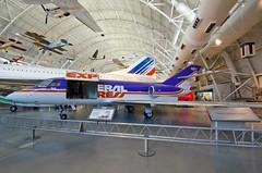 Dassault Falcon 20 (cmfgu) Tags: nationalairspacemuseum smithsonian stevenfudvarhazycenter chantilly va virginia northernvirginia fairfaxcountry nasm boeingaviationhangar dassaultfalcon20 jet airplane federalexpress craigfildesfineartamericacom