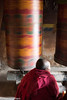 Nun Spinning Prayer Wheel (Nick Mayo/RemoteAsiaPhoto) Tags: arunachalpradesh festival india monpa nun prayerwheel tawang