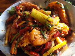 Hot Spicy Prawns (knightbefore_99) Tags: food hot art vancouver lunch pepper chinese prawns northern celery eastvan kingsway hunan wok spicybeauty