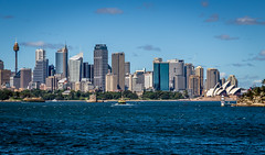 Sydney Skyline (mary_hulett) Tags: travel bridge skyline harbor cityscape sydney australia operahouse