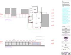 Beach house theatrical facade sketch proposal
