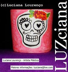 Vasinho de cermica n.6 (LUZciana) Tags: pink caveira vaso rn riograndedonorte 2015 pium caveirinha vasinho lucianaloureno luzciana madeinpium