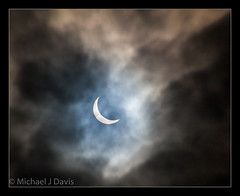 When the clouds parted (MikeJDavis) Tags: sky sun eclipse rochdale