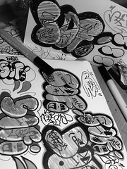 Sofi (arvinfarah) Tags: blackandwhite cute art love cali fun happy graffiti funny comedy artistic drawing letters picture happiness study bubble seag caligraphy bombing oldcamera blackbook throwup throwie bubbleletters bpmb pictyre stydent funnyletters studyblr