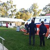 At the CWA tent at Parliament house for the plane in a paddock event to welcome RFDS to Canberra.