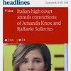Amanda Knox free as a bird