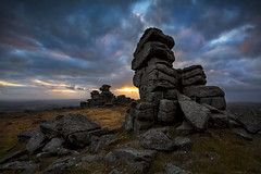 Great Staple Tor Sunset (yadrad) Tags: sunset southwest clouds steeple devon granite tor dartmoor dartmoornationalpark thewestcountry