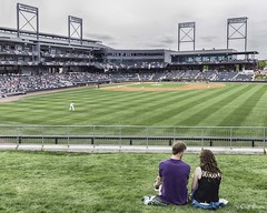 Barons - Couple on the Right Field Berm - Explore (Cliff Brane) Tags: birmingham baseball aa birminghambarons regionsfield baronsbaseball