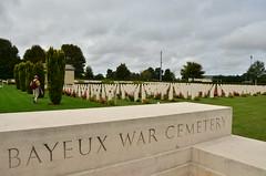 Bayeux War Cemetery (appaIoosa) Tags: france cemetery war wwii normandy gravestones calvados bayeux gravemarker bassenormandie ©appaloosa