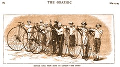 Bicycling in England - 1874 (SSAVE w/ over 5 MILLION views THX) Tags: england bicycle racing 1874
