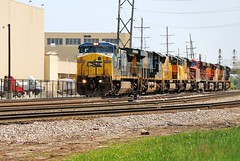 A Cornucopia of Power (BravoDelta1999) Tags: railroad chicago up illinois rail railway junction brc unionpacific canadianpacific cp ge bnsf csx burlingtonnorthernsantafe c408w 7345 markerlights beltrailwayofchicago hayford