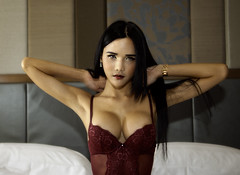 Glamour (Jay Aremac) Tags: portrait woman sexy girl female asian hotel bed bett glamour gesicht erotic room zimmer indoor shy lingerie transgender thai inside frau dessous hotelroom ladyboy shemale erotisch weiblich hotelzimmer asiatin schuechtern reizwaesche thailaenderin