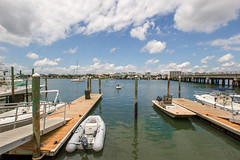 Marina (L.Grey Photography) Tags: sky beach nature clouds marina docks canon boats rebel nc outdoor waterway sl1 wrightsville intracoastal 10mm rokinon