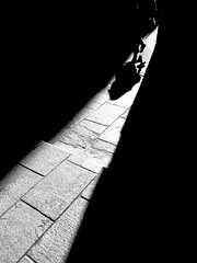 Captured:Moment (BazM:Photog.......:-)) Tags: shadow blancoynegro silhouette contrast mono blackwhite triangle shadows contrejour walkingby shaftoflight stealingshadows