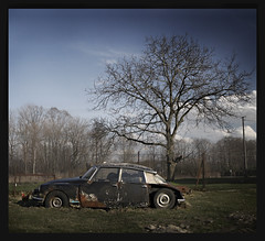 DS (Ulvraith) Tags: old classic abandoned car sony citroen ds rusty poland a500