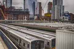 Railyard & Construction (PAJ880) Tags: new york nyc yards construction steel side trains cranes transit jersey hudson njt eest