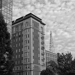 Biltmore Hotel (micro.burst) Tags: atlanta urban bw georgia hotel midtown biltmore pentaxk3 dxoopticspro10