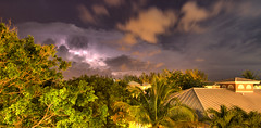 Light show (Tobin Frost) Tags: trees sky storm weather night clouds island cannon caribbean lightning bahamas freeport t3i