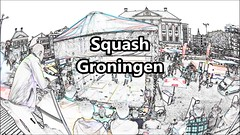 Squash,Grote Markt,Groningen stad ,the Netherlands,Europe (Aheroy(2Busy)) Tags: aheroy aheroyal video squash sport sports groningen groningenstad grotemarkt people sketchy animated cartonished aheroyalproductions carillion beiaard stadsvideo