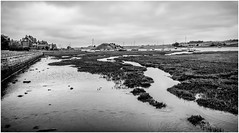 Alnmouth . (wayman2011) Tags: uk boats mono coast villages estuary northumberland alnmouth rivers canon5d lightroom riveraln bwlandscapes wayman2011