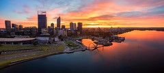 Perth Sunrise (kirkhillephotography) Tags: city wallpaper panorama sunrise river landscape photography photo highresolution raw cityscape australia aerial perth pro phantom inspire aerials drone skypixel dji kirkhille