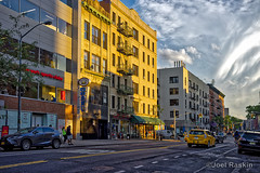 Avenue A Evening Scene (Joel Raskin) Tags: city nyc eastvillage manhattan lowereastside citylife streetscene 3rdstreet alphabetcity avenuea urbanlandscape