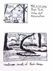 Three Value Thumbnail Test (jimblodget) Tags: penandink pen sketch moleskine value trees test pencil building ink thumbnail